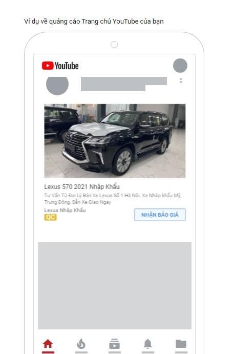 quảng cáo hiển thị hình ảnh thích ứng trên Youtube